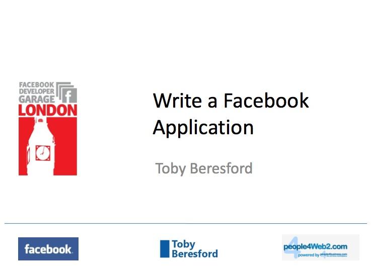 Facebook Developer Presentation